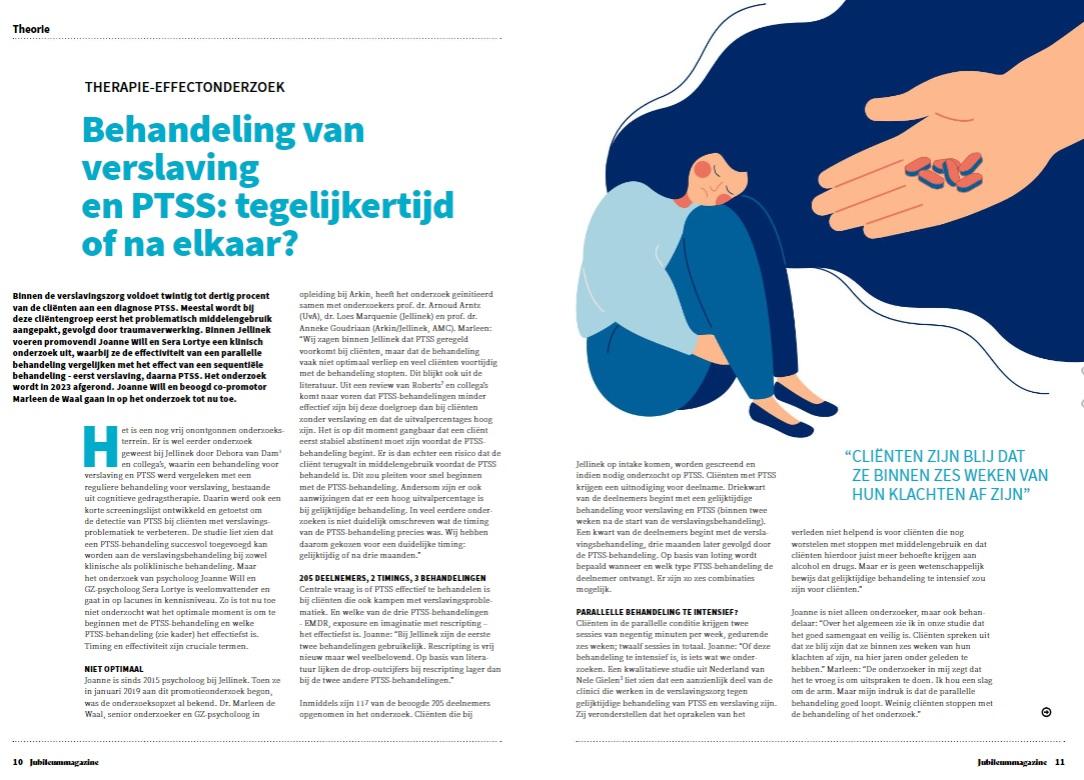 Onderzoek behandeling verslaving en PTSS: interview in VGCT-magazine